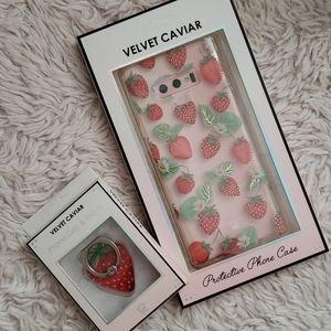 VELVET CAVIAR Strawberry samsung phone case note 9
